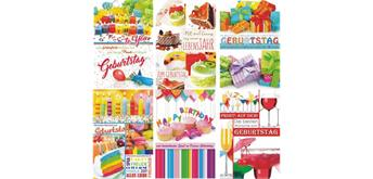 Glückwunschkarten Geburtstag assortiert