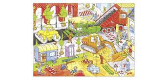 Goki Einlegepuzzle Auf der Baustelle