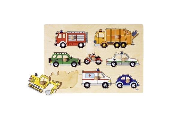 Goki Steckpuzzle Verkehrsmittel 30 x 21 cm