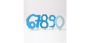 Grimm's 04404 Blaues Zahlenstecker Set 6 - 9 und 0