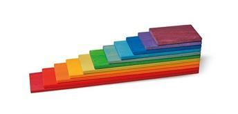 Grimms 10668 Bauplatten Regenbogen, 11 Teile