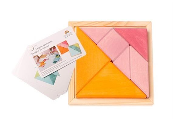 Grimms 43312 Legespielset Tangram orange-rosa