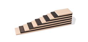 Grimms 93140 Bauplatten Monochrom, 11 Teile