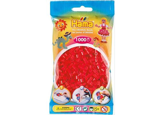 HAMA 207-05 - Bügelperlen rot 1000 Stück