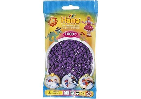 HAMA 207-07 - Bügelperlen violett 1000 Stück