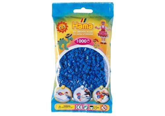HAMA 207-09 - Bügelperlen hellblau 1000 Stück