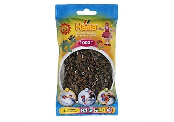 HAMA 207-12 - Bügelperlen dunkelbraun 1000 Stück