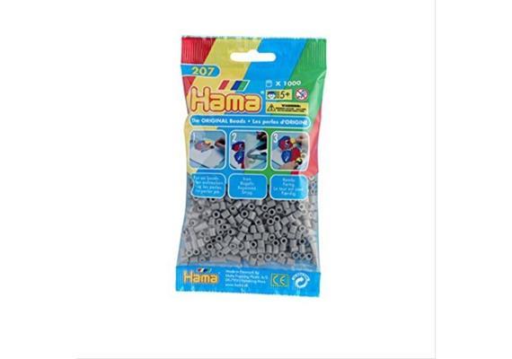 HAMA 207-17 - Bügelperlen grau 1000 Stück