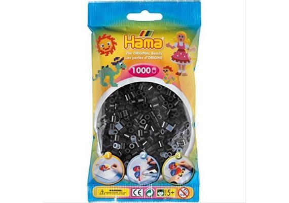 HAMA 207-18 - Bügelperlen schwarz 1000 Stück