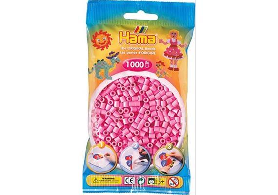 HAMA 207-48 - Bügelperlen pastellpink 1000 Stück