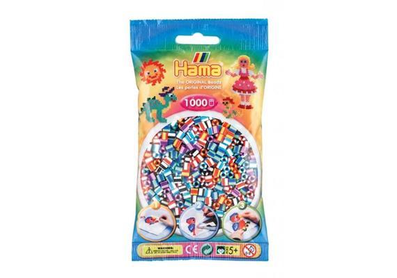 HAMA 207-90 - Bügelperlen gestreift 1000 Stück