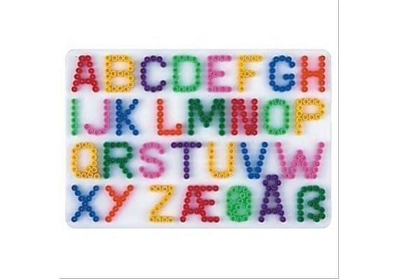 HAMA 272 Bügelperlen Midi - Stiftplatte Buchstaben