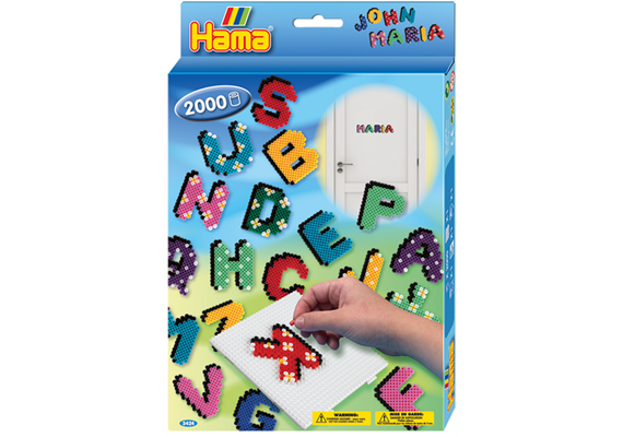 HAMA Bügelperlen Midi Buchstaben