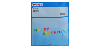 Hauser - Girlande Happy Birthday 1.5 m Papier
