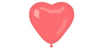 Herzballons kristallrot, breite 50 cm 20er Pack