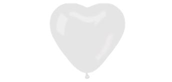 Herzballons weiss, breite 40 cm 20er Pack