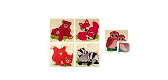 Hess Puzzle Tierbabies, 20 Teilig, 5 Puzzle