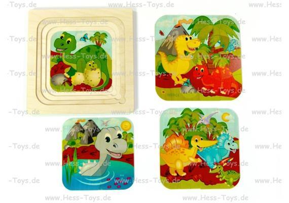 Hess Schichtenpuzzle Dino's