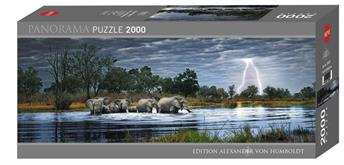 Heye Humboldt Herd of Elephants Panorama 2000 Teile