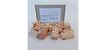 Holznoppi 1021 - Zirbenholz Noppensteine - 20er Box