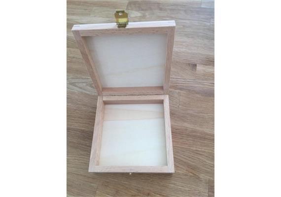 Holzschachtel 105x105x27 mm - zu Atelier Fischer 16-teilig