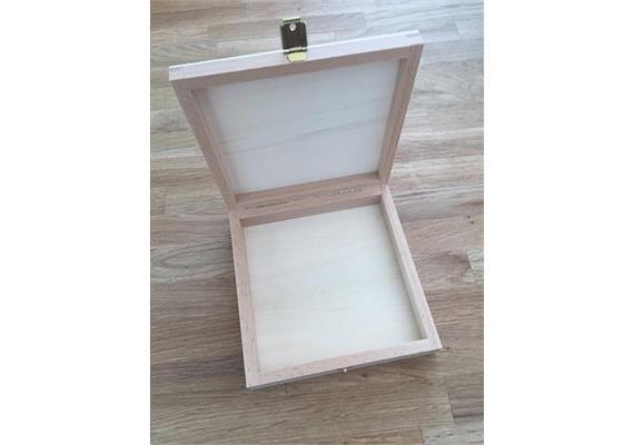 Holzschachtel 131x131x27 mm - zu Atelier Fischer 25-teilig