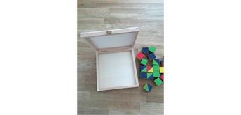 Holzschachtel 155x155x27 mm - zu Atelier Fischer 36-teilig