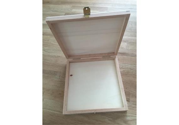Holzschachtel 166x166x22 mm - zu Holz-Liebe 64-teilig
