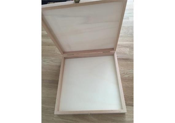 Holzschachtel 208x208x27 mm - zu Atelier Fischer 64-teilig