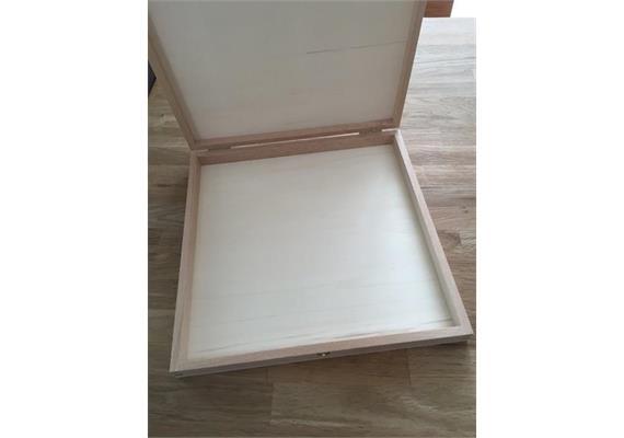 Holzschachtel 257x257x27 mm - zu Atelier Fischer 100-teilig