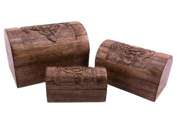 Holzspielerei Drachentruhe mittel