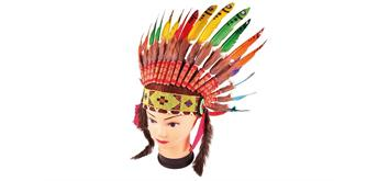 Holzspielerei - Häuptling-Kopfschmuck Rainbow für Kinder