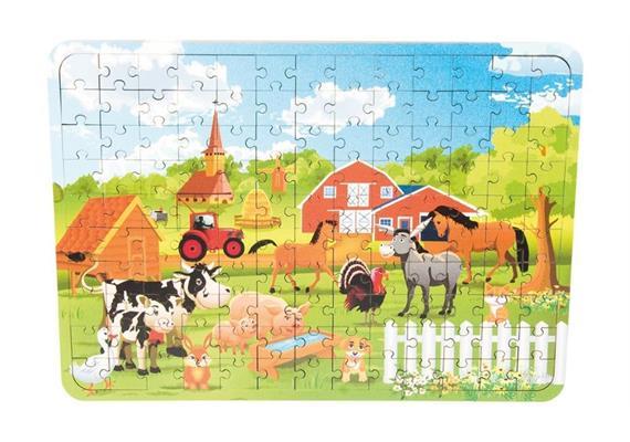 Holzspielerei Holz-Puzzle Bauernhof