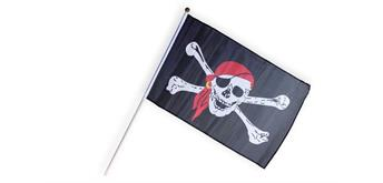 Holzspielerei Piratenflagge klein 3-farbig