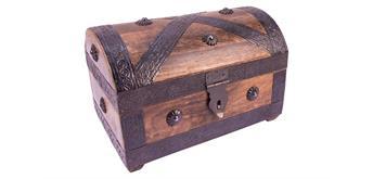 Holzspielerei Piratentruhe Mango geflammt mittel