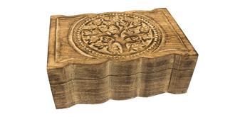 Holzspielerei Schmucktruhe Lebensbaum