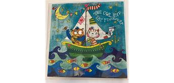 Jigsaw Card - Geburtstagskarte Eule als Puzzle