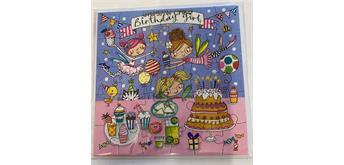 Jigsaw Card - Geburtstagskarte Girl als Puzzle