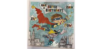 Jigsaw Card - Geburtstagskarte Super Boy als Puzzle