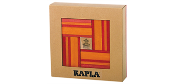 Kapla Color rot-orange mit Buch