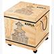 Kapla Kindergartenbox 1000 Stück mit Rädern und Deckel