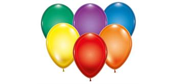 Karaloon - 100 Ballons kristall sortiert Ø 28-30 cm