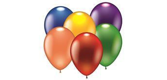 Karaloon - 100 Ballons metallic sortiert Ø 28 - 30 cm