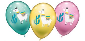 Karaloon - 15 Ballons Lama 28 -30 cm
