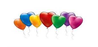Karaloon - 20 bunte Herzballons Ø 15 cm