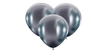 Karaloon - 25 Riesenballons glossy silber Ø 45 cm