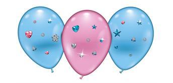 "Karaloon - 4 Ballons ""Hearts & Stars Jewels"" 23 - 25 cm"
