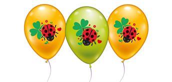 Karaloon - 6 Ballons 30098 Glückskäfer