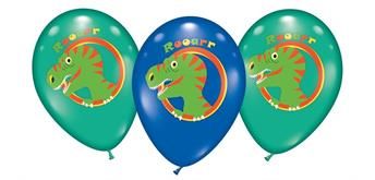 Karaloon - 6 Ballons Dinosaurs 28 -30 cm