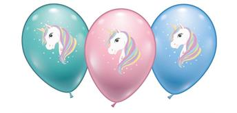 Karaloon - 6 Ballons Einhorn 28 - 30 cm